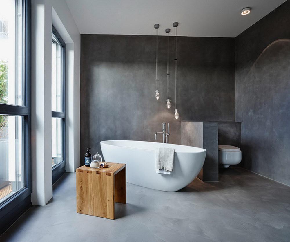 Ванная комната бетон железнение бетона состав