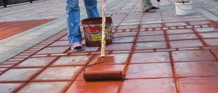 покрасить бетонную смесь