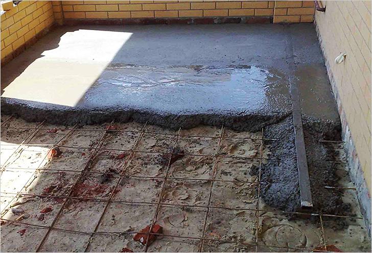 заливка гаража бетоном
