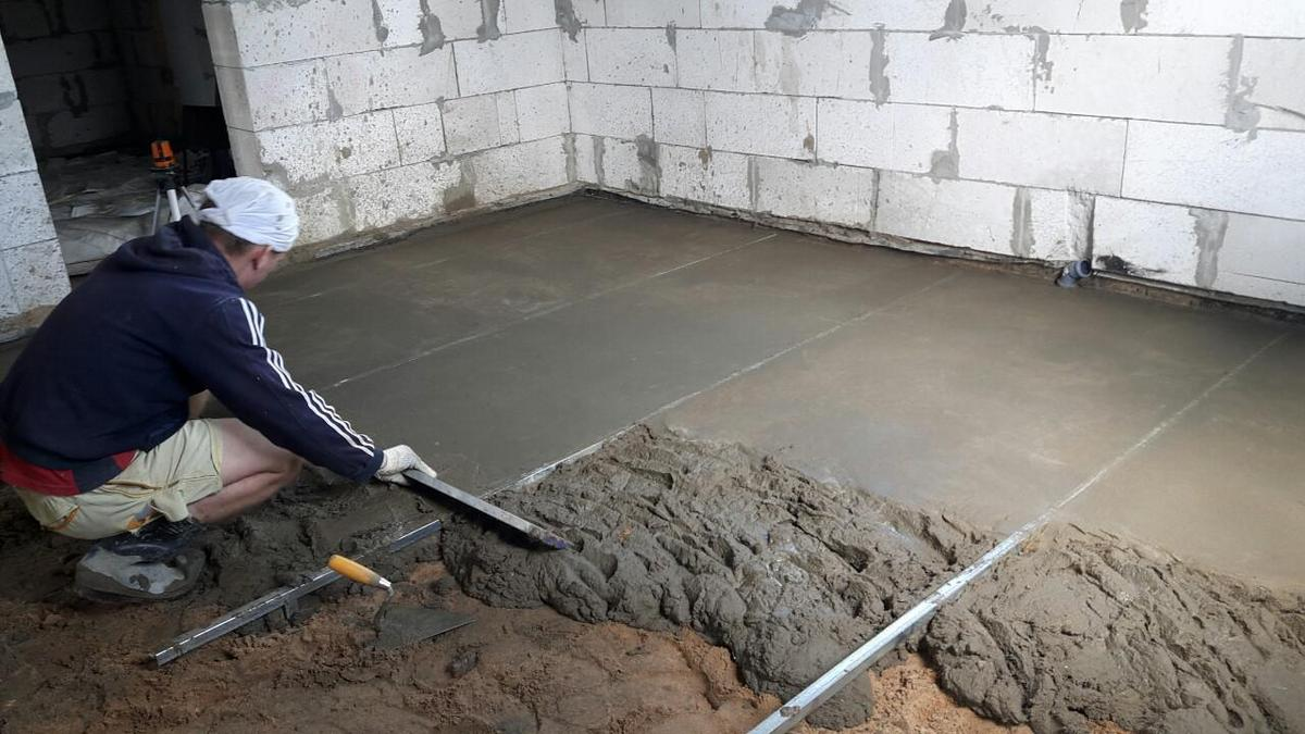 как правильно делать бетонный пол