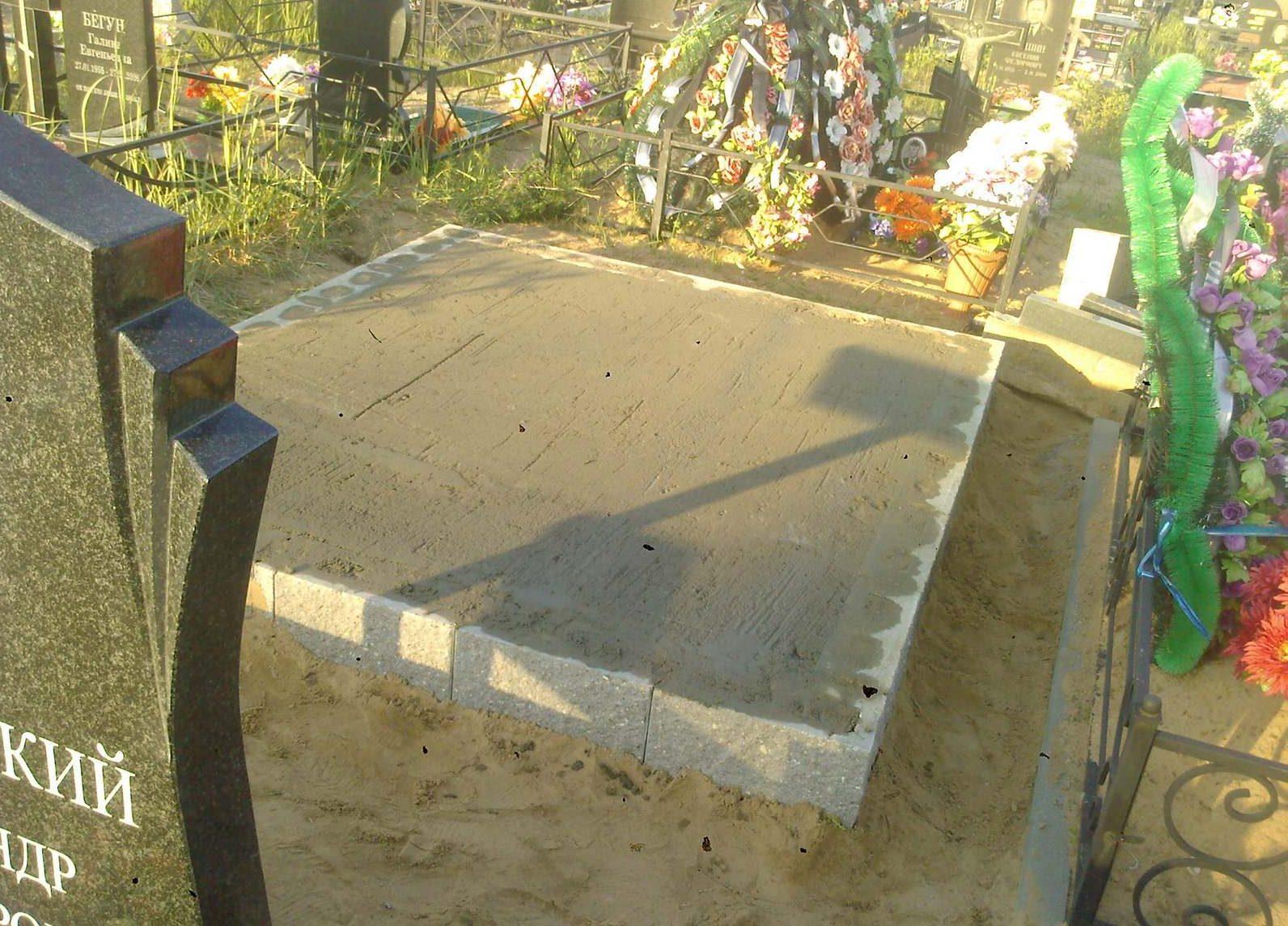 бетон на могилу