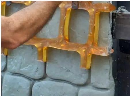 оттиск на бетоне