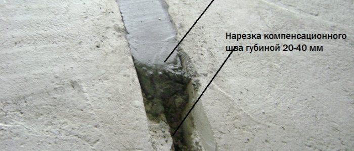 бетон швы