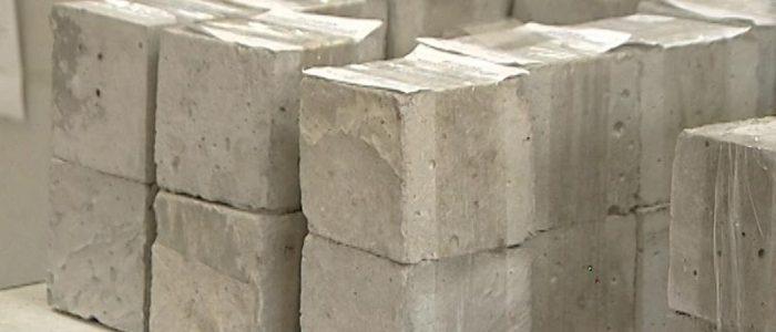 разрушение кубика бетона