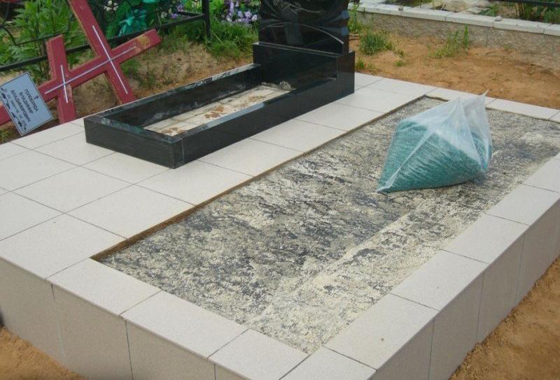 Залить могилу бетоном купить строительный раствор минск