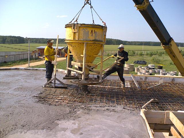 Перемещение бетона пеноблока или керамзитобетон