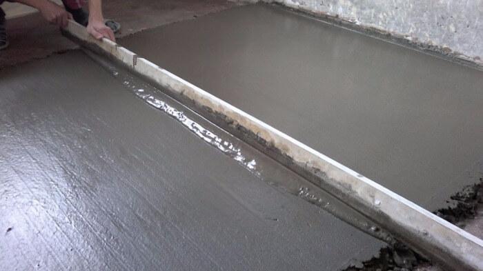 правило по бетону