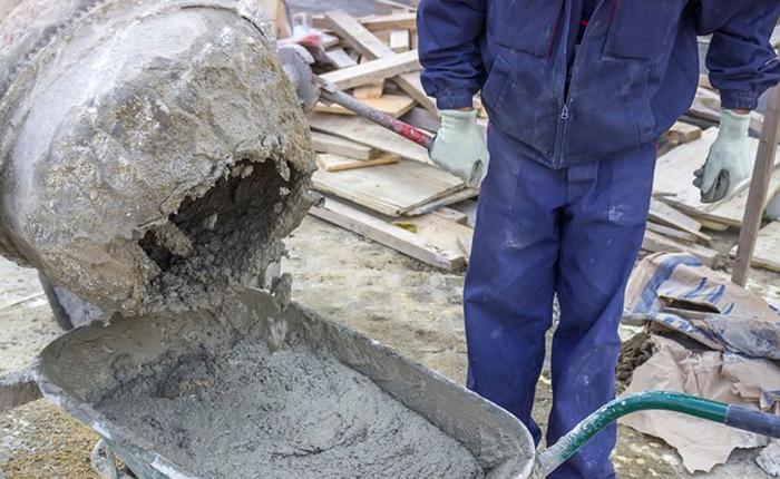 как смесь бетонную размешать